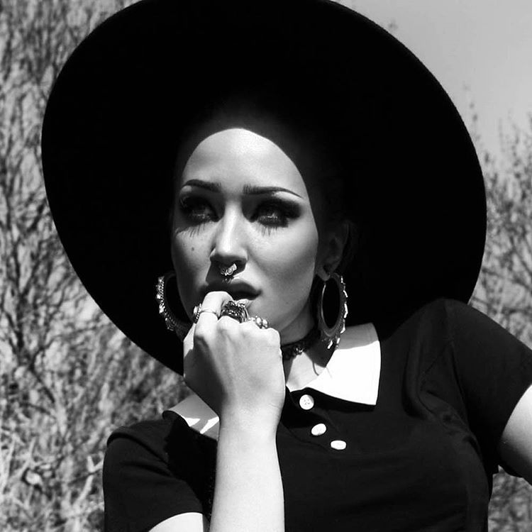 """New from @killstarco Witch Brim Hat #fedora #black #witchy"""