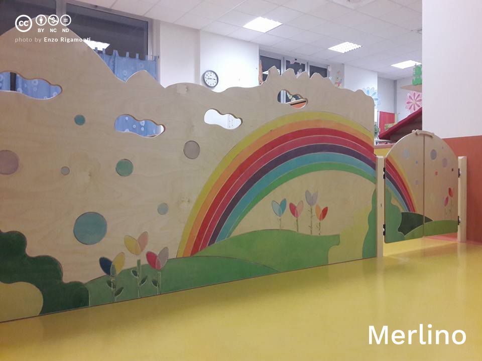 Asilo nido pannelli decorati resegone arcobaleno for Arredi nido