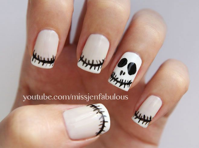 Jack Skellington Nail Art Nailed It Pinterest Jack Skellington