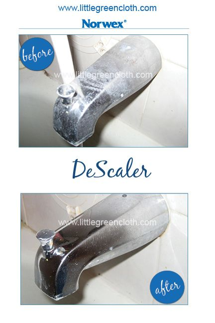 Norwex Descaler On A Faucet With Hard Water Buildup Spray Let Set For 5 Minutes Then Gently Wipe Clean Kristinaduncan Biz