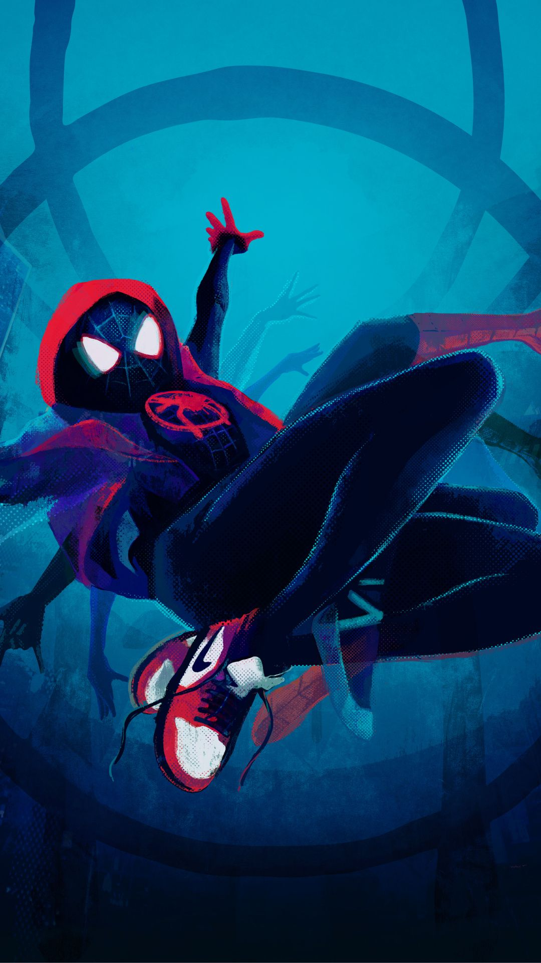 SpiderMan Into the SpiderVerse, artwork, black