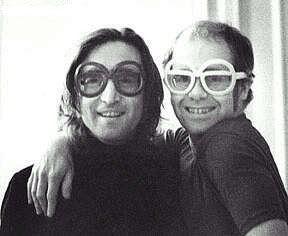 John Lennon and Elton John sporting some interesting specs.