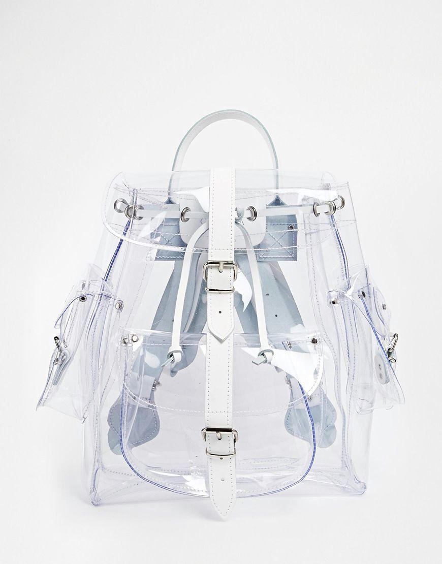 efd2ab2306422 Anos 90  mochila de plástico transparente Mochila De Moda
