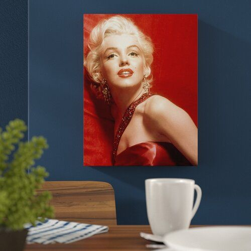 East Urban Home Leinwandbild Hollywood Legenden-Glamour Marylin Monroe, Memorabilien | Wayfair.de #hollywoodlegends