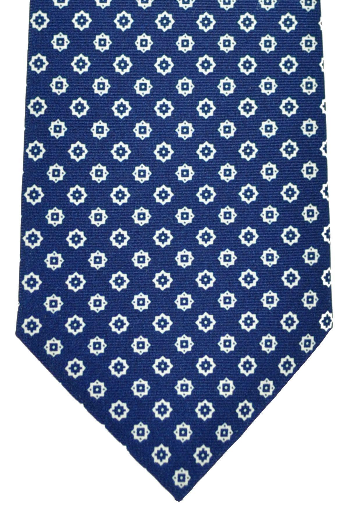 Silk tie navy patterned Borrelli Napoli v2vuU8