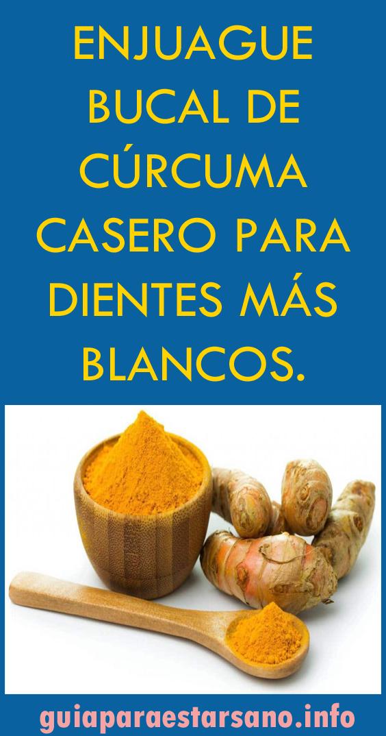 Enjuague Bucal De Cúrcuma Casero Para Dientes Más Blancos Enjuague Bucal Enjuague Bucal Casero Bucal