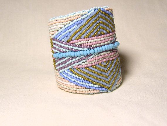 I love this cuff!  Bead Embroidered Cuff Bracelet Native by LisaPierceJewelry on Etsy, $175.00