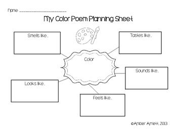 {FREEBIE} Poetry Planning Printables- Graphic Organizers