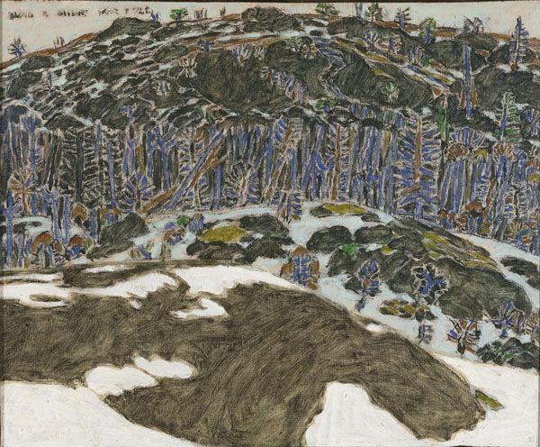 David Milne, Rocks in Spring, 1922 oil on canvas 45.8 x 56.2 cm