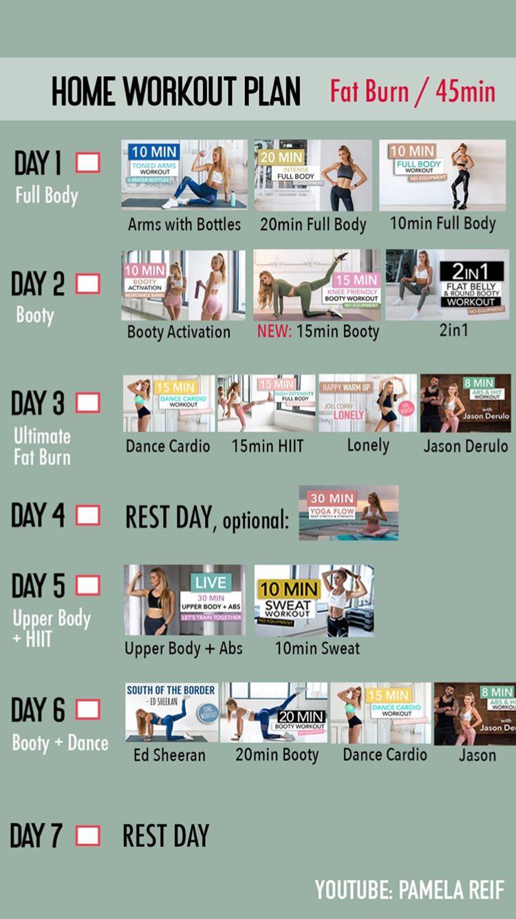 Tägliche Routine von Übungen zum Abnehmen zu Hause