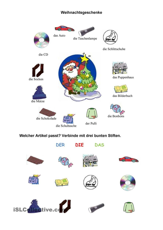 Weihnachtsgeschenke | Weihnachten im DaF/DaZ-Unterricht (o Natal na ...