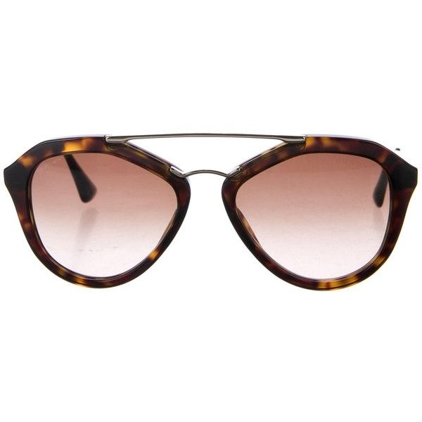5b7b15babc9 Pre-owned Prada Tortoise Gradient Sunglasses (200 SGD) ❤ liked on ...