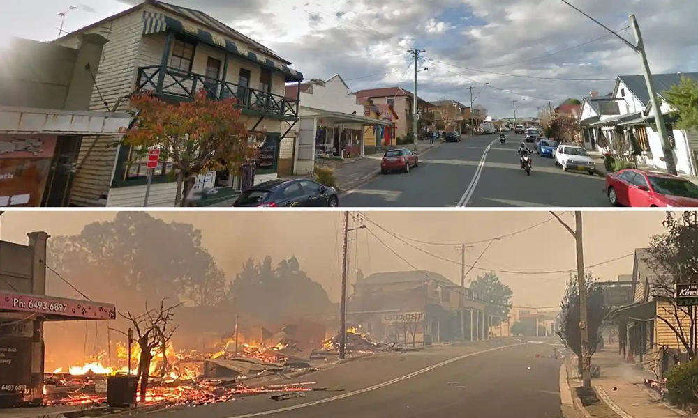 Australia bushfires towns devastated and lives lost as