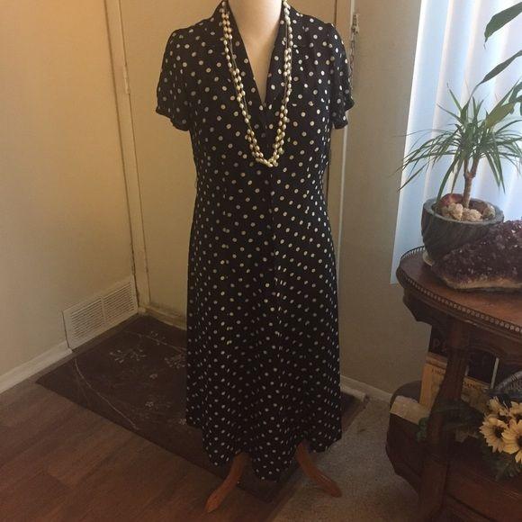 Jonathan Martin dress Sheer with slip lining. Button down polka dot pattern Jonathan Martin Studio Dresses Midi
