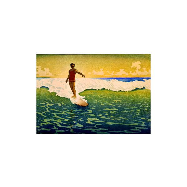 Hawaiian Surf Sunset Giclee Print Wall Art ($50) ❤ liked on ...