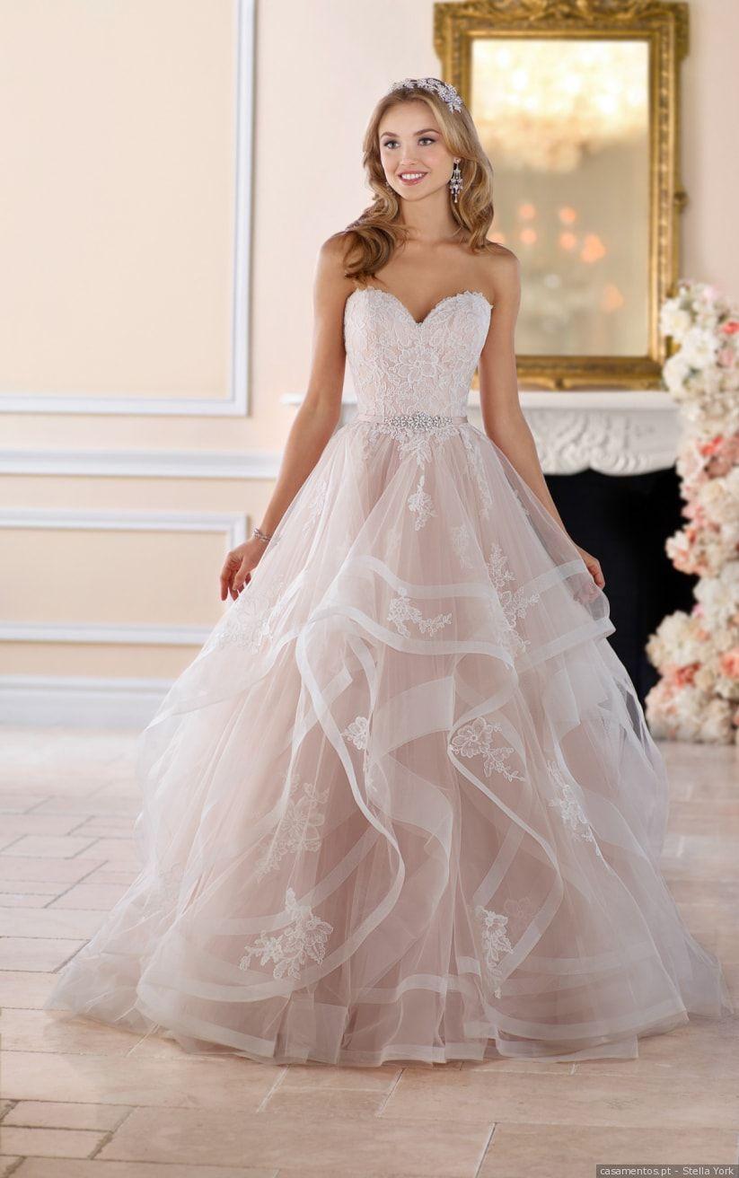 Rosa Blush No Teu Casamento Os Vestidos Mais Incríveis Vestidos De Noiva Princesa Vestido De Noiva Vestidos