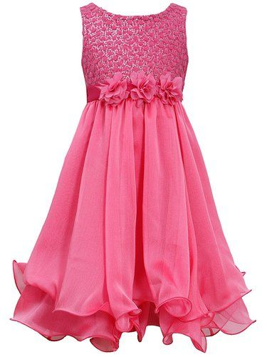 Pink Girls Party Dresses 7 16