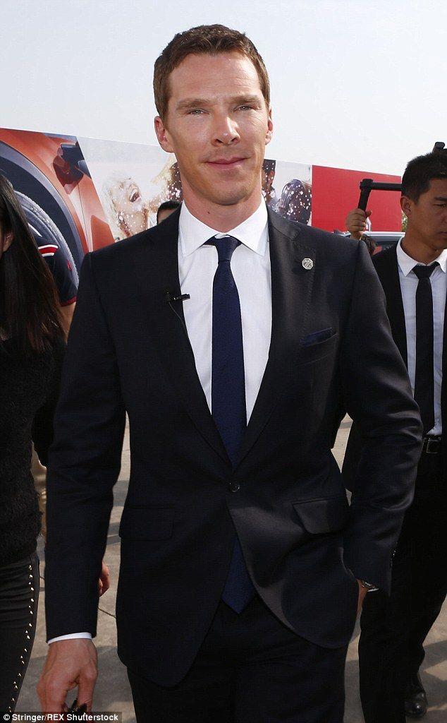 Benedict Cumberbatch Cuts Suave Figure As He Showcases His New