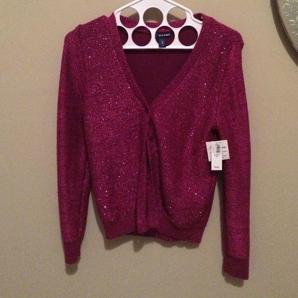 Old Navy Deep Pink/Purple sequin cardigan NWT | Navy, Sweater ...