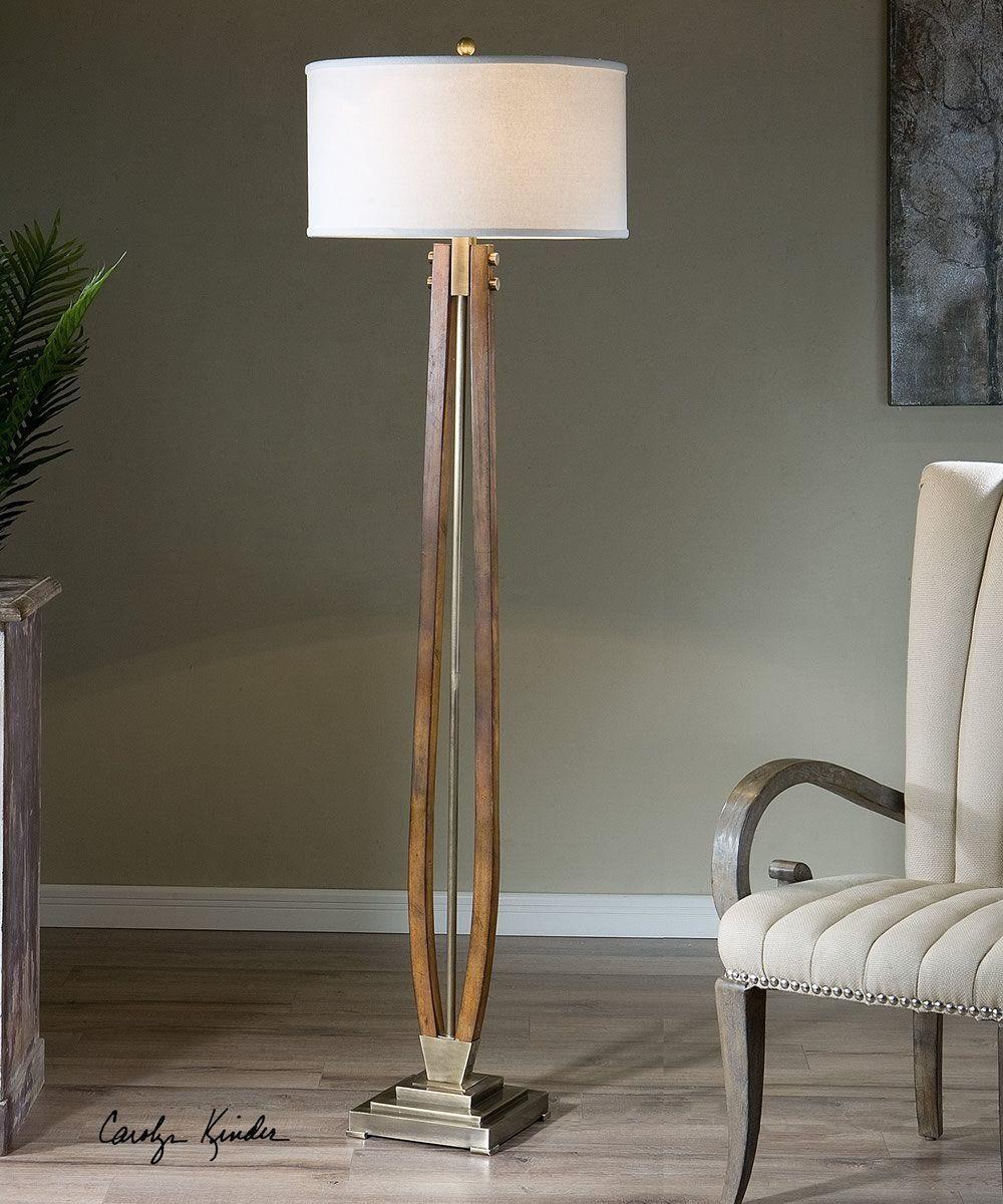 Boydton Burnished Wood Floor Lamp Wood Floor Lamp Floor Lamp Cool Floor Lamps