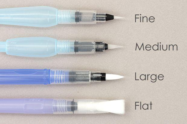 Watercolor Wash Using Tombow Brush Pens Tombow Brush Pen Hand