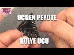 Üçgen (Muska) Peyote Kolye Ucu - YouTube #craftstomakeandsell