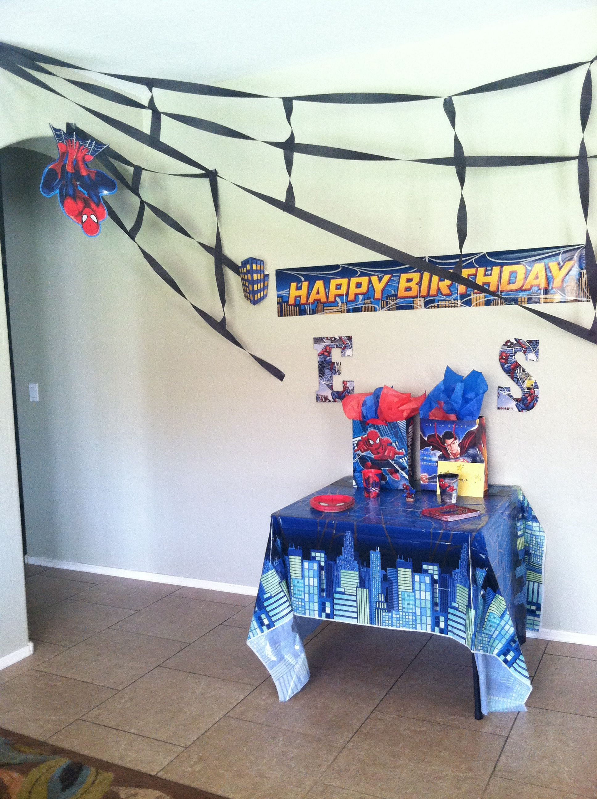 Spiderman Birthday Decoration With Images Spiderman Birthday