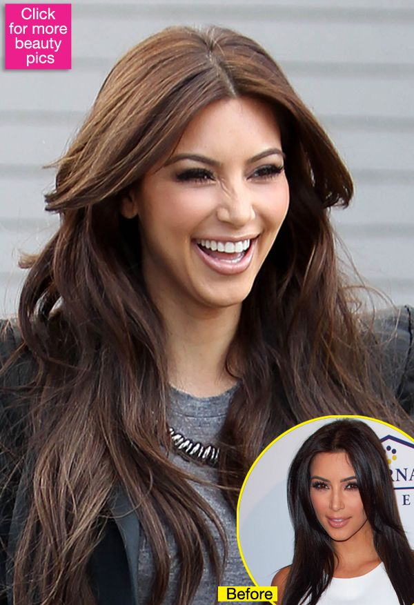 Kim Kardashian Has Much Lighter Hair Is She Softening Up Her Look