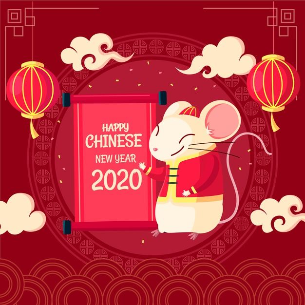 Download Happy Chinese New Year In Flat Design for free