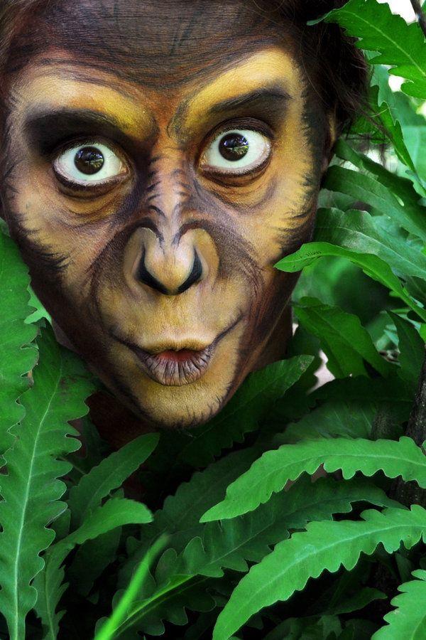 Affenkost m selber machen kost m idee zu karneval for Schattenbilder selber machen