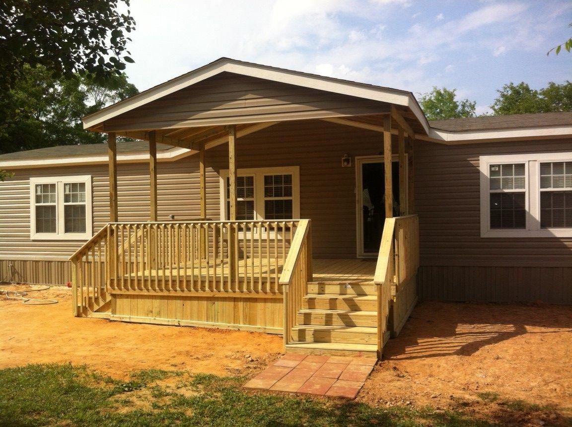 12x16 Vinyl Post And Beam Gable Ready Decks Mobile Home Porch Front Porch Design Porch Design