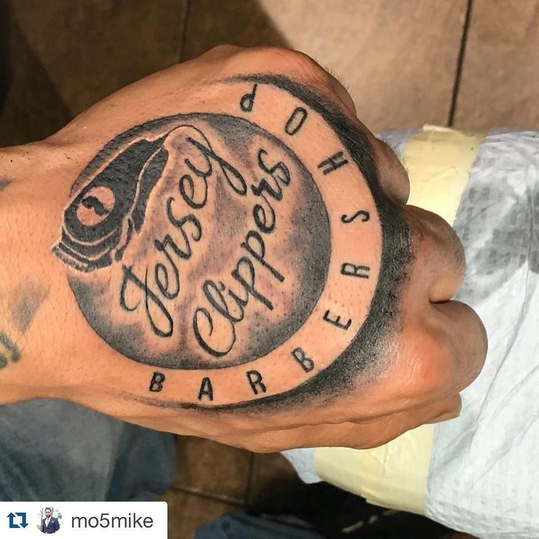 Jersey Clippers for life!   @mo5mike #JerseyClippers #BarberShop #tattoo #committed #Barbershopconnect #jerseycity #jersey #nj