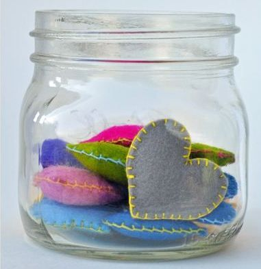 Pocket Hearts--  A sweet and simple reminder for your kids to let them know you are thinking about them during the day!
