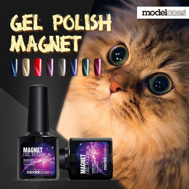 Modelones Moda 1 Unids 10 ml 3D esmalte de Uñas UV LED Ojos de Gato ...