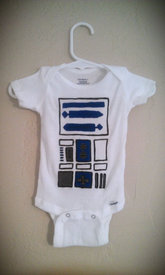 Star Wars R2-D2 Inspired Baby Onesie, costume, baby shower gift, by PuffyCheeks Bowteek on Etsy, $16.00