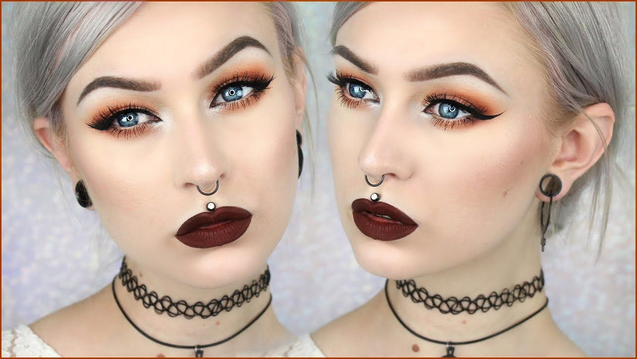 90 S Grunge Glam Autumn Leaves Makeup Evelina Forsell With