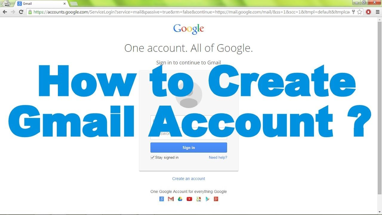 How To Create Gmail Email Account Live Demo Www Google Com Google Gmail Sign Up Gmail Sign Gmail