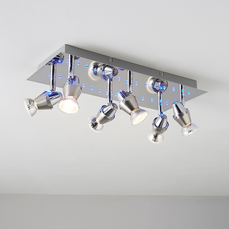 Tornado Blue LED Chrome Effect 6 Lamp Spotlight Plate | Spotlight ...