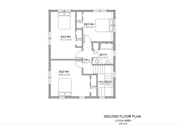 2 Bedroom House Plans Pdf 3 Bedroom House Plans Pdf Bedroom Design Ideas For 2017 604x420 House Blueprints Colonial House Plans House Floor Plans