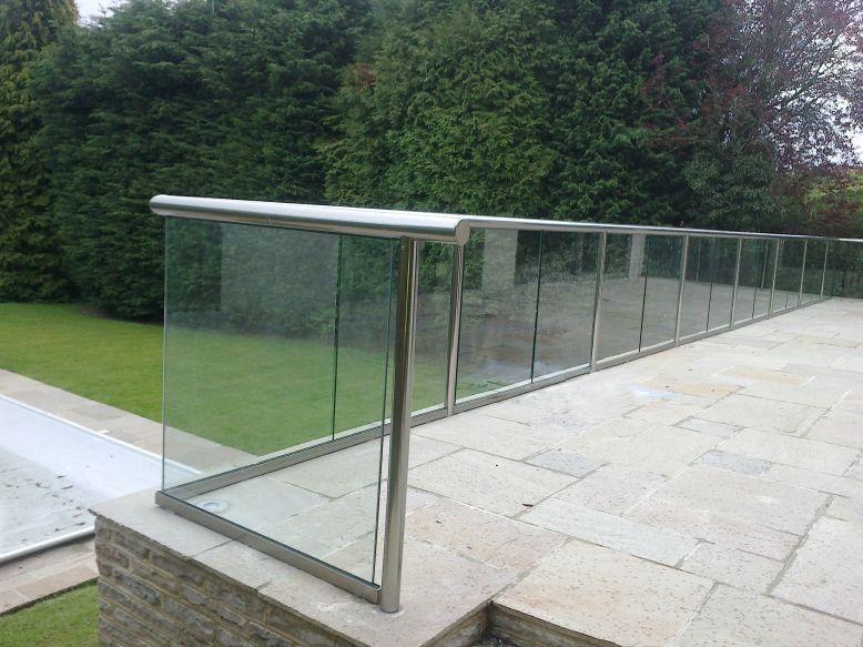 Stainless Steel Glass Balustrade.Handrail balcony bannister //Garden railings