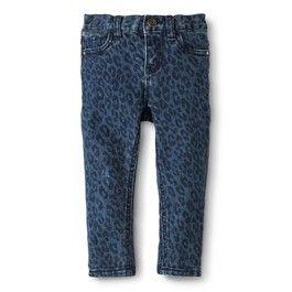 Infant Toddler Girls' Animal Print Skinny Jean