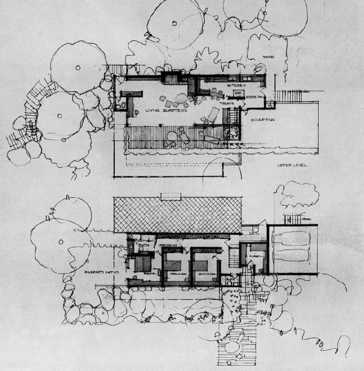 Case Study House No.21 (1947, unbuilt) | Architect : Richard Neutra ...