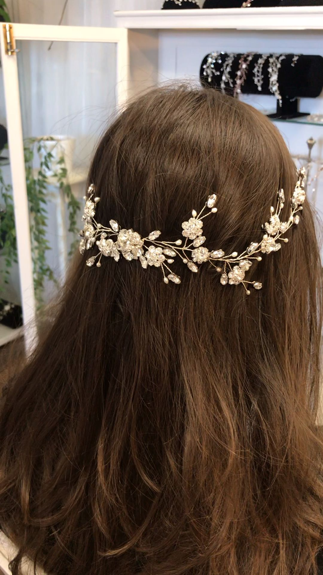 Photo of Easy day to night wedding headpiece