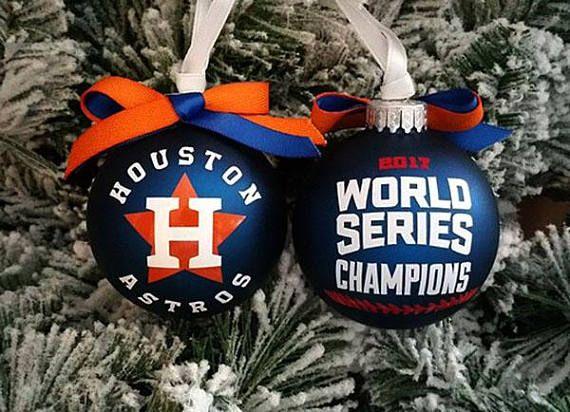 world series 2017 champions houston astros glass christmas tree ornament christmas decoration christmas ornament
