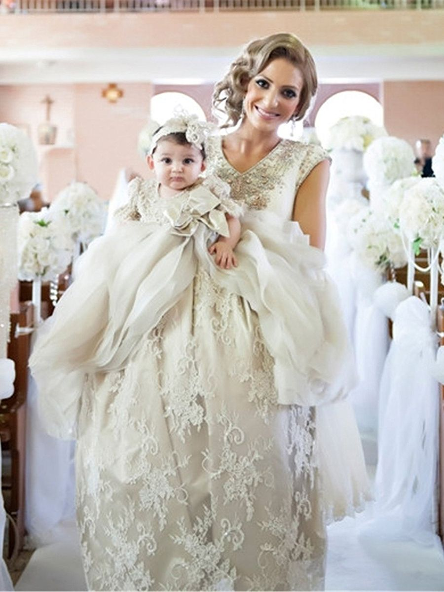 Ericdress Luxury Lace Tulle Infant Baby Girl S Christening