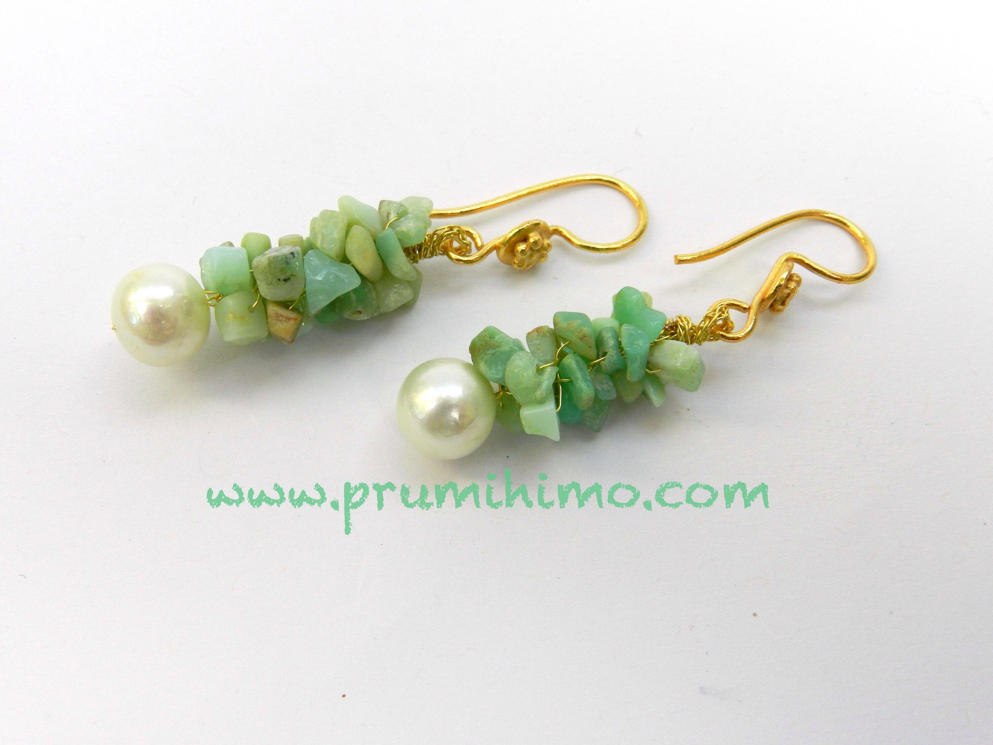 a74f37fbee753 Gemstone kumihimo earrings. Free instructions by Prumihimo ...