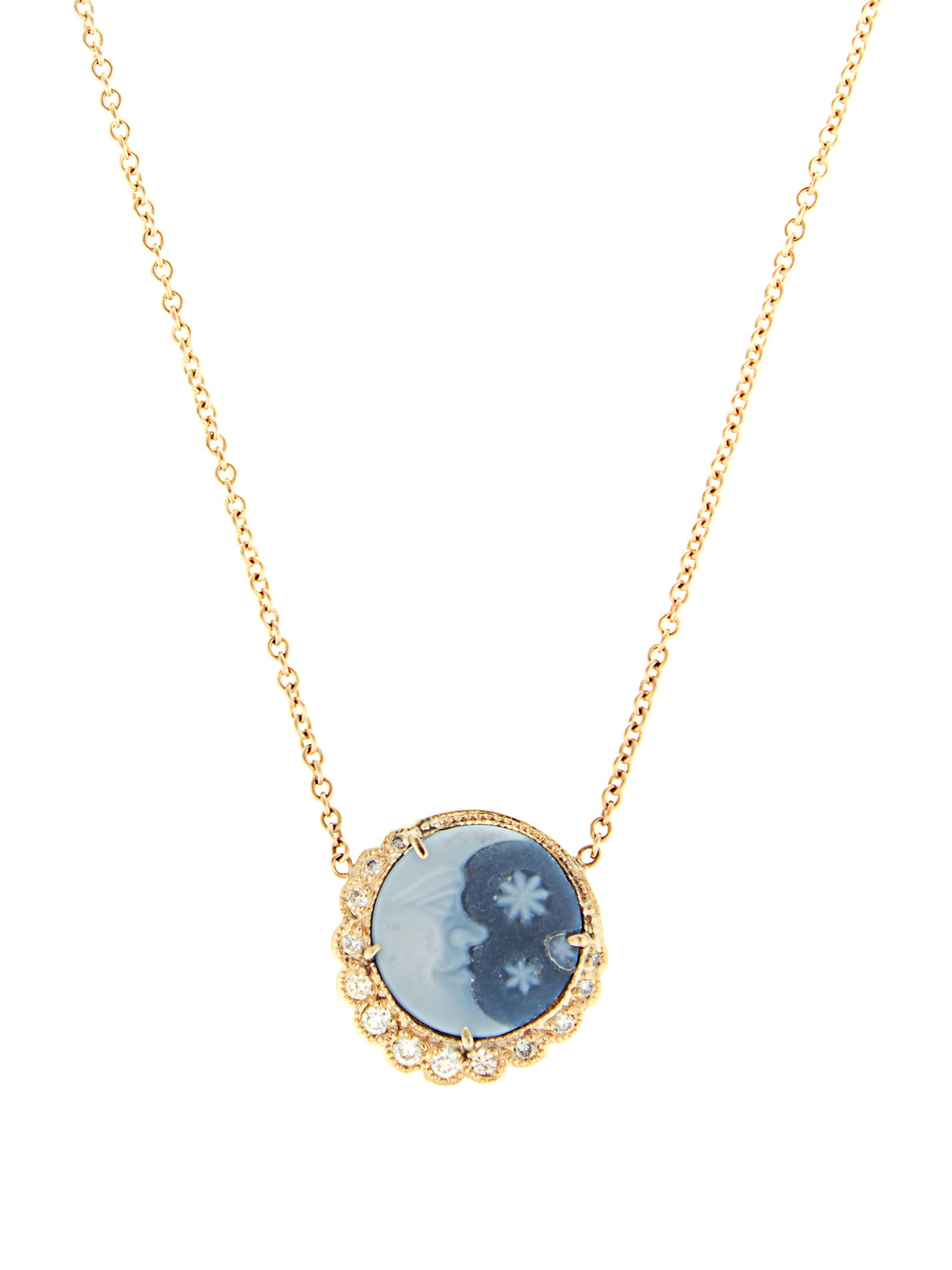 Jacquie Aiche Diamond, agate & yellow-gold necklace