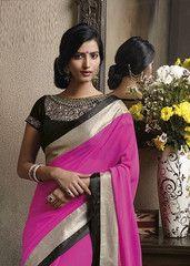 #Pink colour #wrinkle #chiffon material #designer #saree #saari