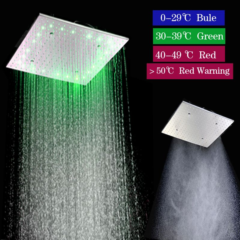 20 Inch Square Rain Shower Head Shower Accessories 304 Sus Polish