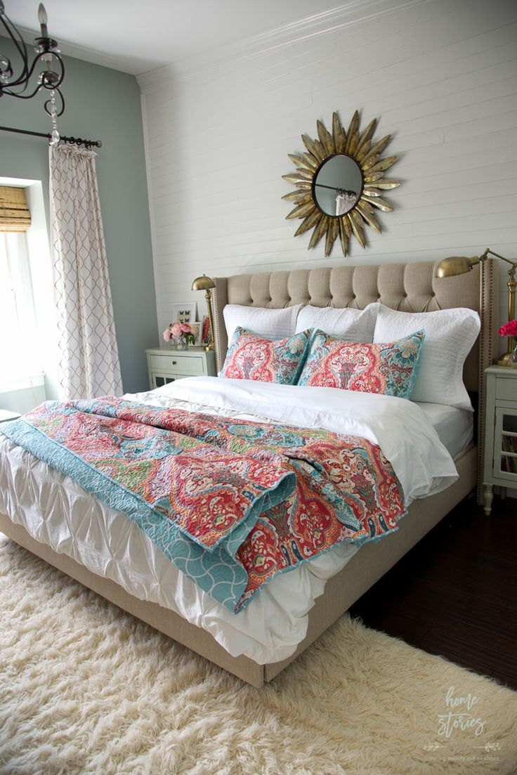 How to Refresh a Bedroom on a Budget | Romantic bedroom ... on Bohemian Bedroom Ideas On A Budget  id=82221